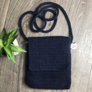 The Sak Crocheted Navy Crossbody